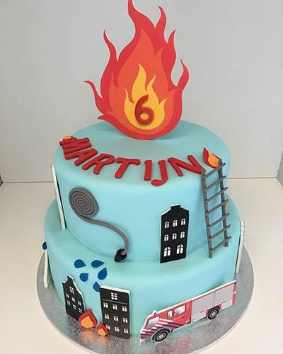 Verjaardagstaart Brandweer Bakken & Zo