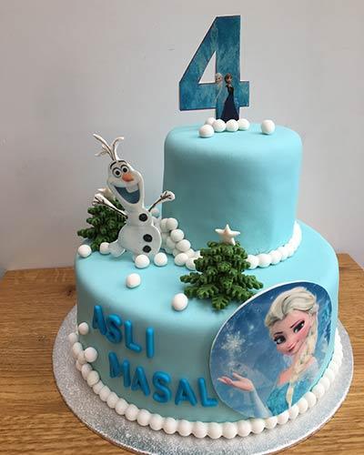 verjaardagstaart Elsa en Olaf Bakken & Zo