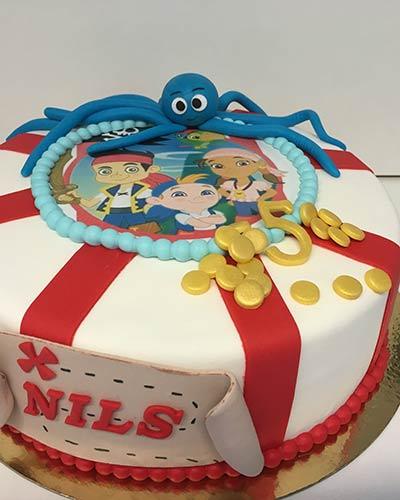 Verjaardagstaart Jake piraten Bakken & Zo